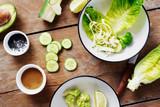 Ingredients cooking green detox salad Healthy food - 223349668
