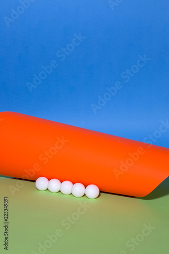 Abstract background of sheets of colored paper, for decoration, for text design, for template - 223349891