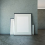blank picture on the wall - 223351604