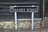 Thames Road Street Sign; London