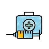 medical emergency kit first aid syringe - 223363484