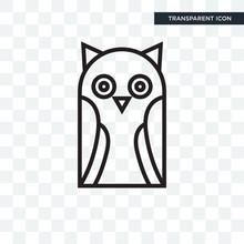 Owl  Icon  On Transparent  Owl Logo Design Sticker