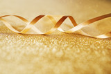 Golden background with festive loop - 223364409