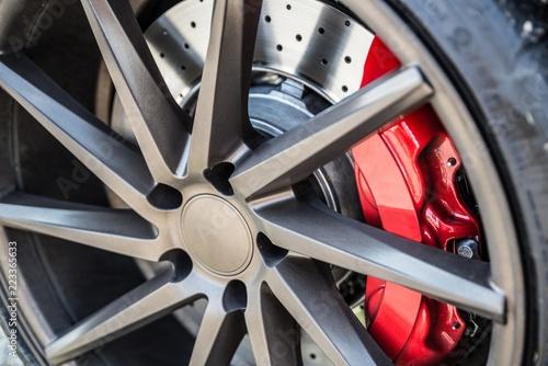 Sports car braking system - 223365633
