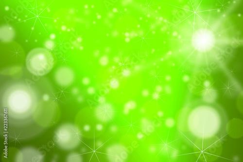 Green Bokeh nature background - 223367611