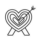 romantic heart love arrow decoration - 223369265