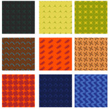 Set mit verschiedenen Mustern, nahtlos - 223372270