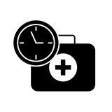 medical suitcase first aid emergency time clock - 223380292