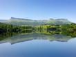 symmetrical lake reflections in Marono