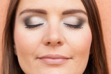 Close up of woman face with make up. - 223387034