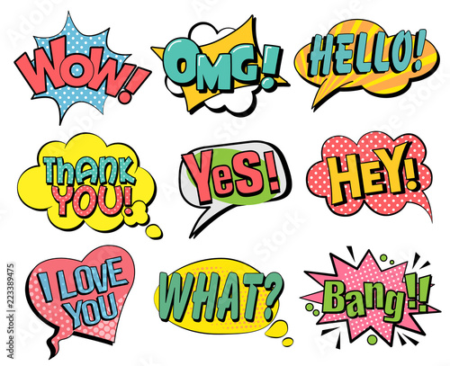 Set of speech bubbles in retro style © RoseStudio