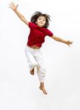 successful child enjoying flying to express open mindedness and imagination - 223392472