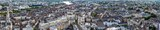 Panoramic view of Nantes in France from above