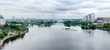 Panorama of a navigable river