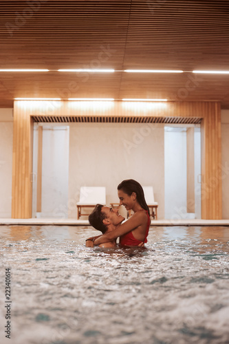 canvas print picture Couple In Love At Luxury Hotel