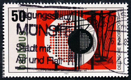 Postage stamp Germany 1983 Light Space Modulator © laufer