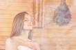 Leinwandbild Motiv Sauna.