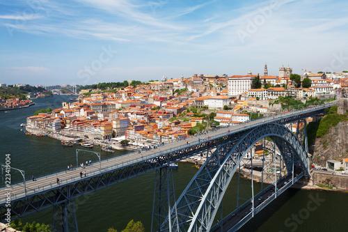 Foto Murales Dom Luis Bridge and old Porto