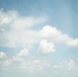 Blue sky on art canvas