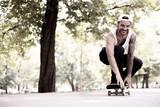 Lässiger Skater  - 223448663
