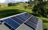 Photovoltaic Solar Panels on roof - 223467885
