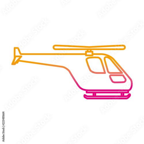 Fototapeta helicopter flying isolated icon