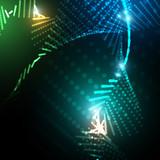 świetliste kropki tło wektor