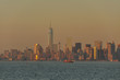 View of New York City from the river Hudson - 223483031