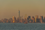 View of New York City from the river Hudson