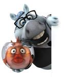 Fun horse - 3D Illustration - 223487641
