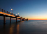 bridge after the sunset in versilia