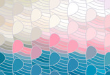 Vector wave background of doodle hand drawn lines - 223494412