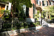 Street and row of brownstones in Boston