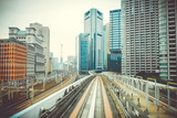 Monorail in Tokyo city, Japan