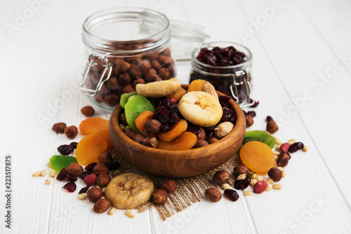 Mixed dried fruits - 223517875