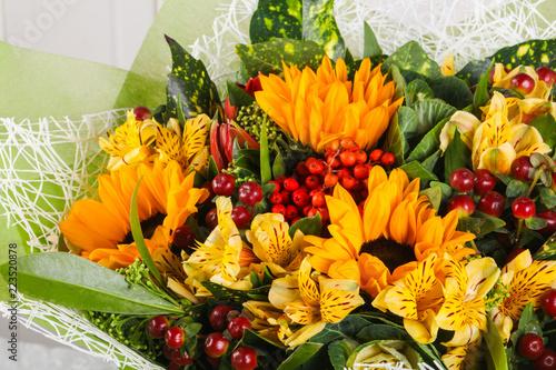 Foto Murales Romance flower bouquet