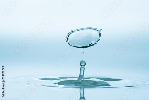 Zderzenie spadających kropel wody