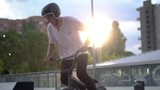 BMX Rider In Skatepark training outdoor - 223528274