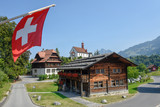 The village of Flüeli-Ranft  on the Swiss alps