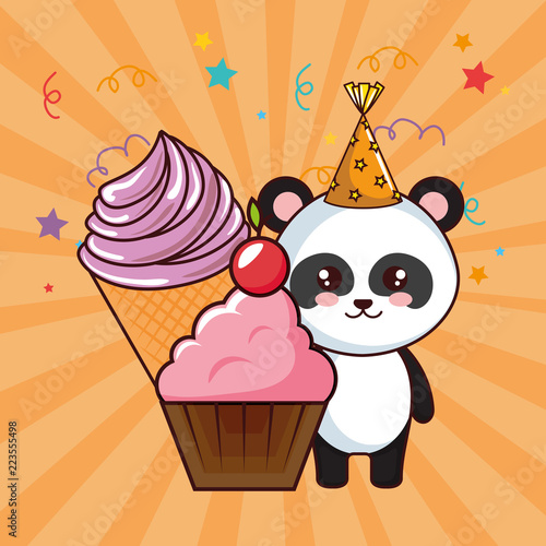 Happy Birthday Card With Panda Bear Buy Photos Ap Images