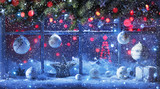 Christmas Decoration With Fir Branches And Balls - 223555846