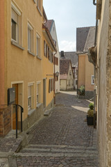 Weikersheim, Germany - a quiet, uninhabited street in the old town. © MiroslawKopec