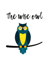The Wise Owl Popular Phrase  A Bird    Smart And Humble Sticker