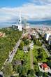 View of seaside resort city Batumi. Aerial View Of Batumi Urban Cityscape. Adjara Georgia. Black Sea - 223581642