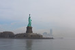 Statue of Liberty as the fog breaks