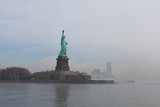 Statue of Liberty as the fog breaks - 223608257