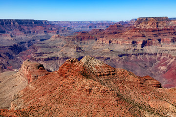 Scenic Grand Canyon during late summer season