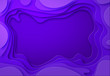 Leinwandbild Motiv Shades of purple with smooth transitions are cut from paper. Place for ad announcement. abstract art of carving. illustration