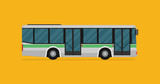 illustration of a bus, eps10 vector