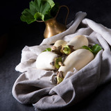 Eggplant (Solanum melongena) is a species in the nightshade family (Solanaceae) grown for its edible fruit. - 223682844